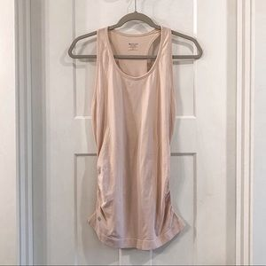 Athleta Blush Athletic Workout Tank Ruched Small
